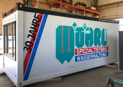 Baucontainer Beschriftung