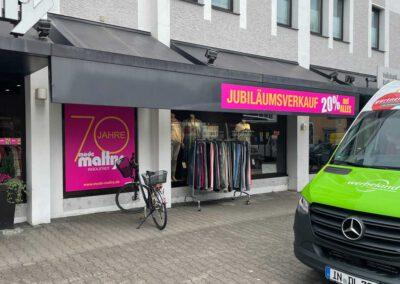 Beschriftung Werbeaktion Ingolstadt