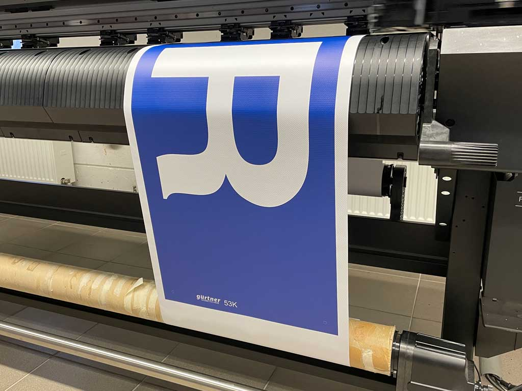 Digitaldruck Kranbanner Liebherr