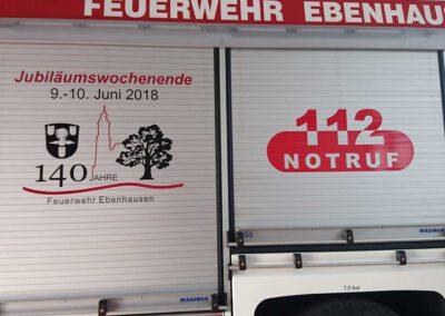 Fahrzeugbeschriftung Feuerwehr Reflexfolie