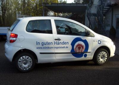 Fahrzeugbeschriftung Klinikum Ingolstadt