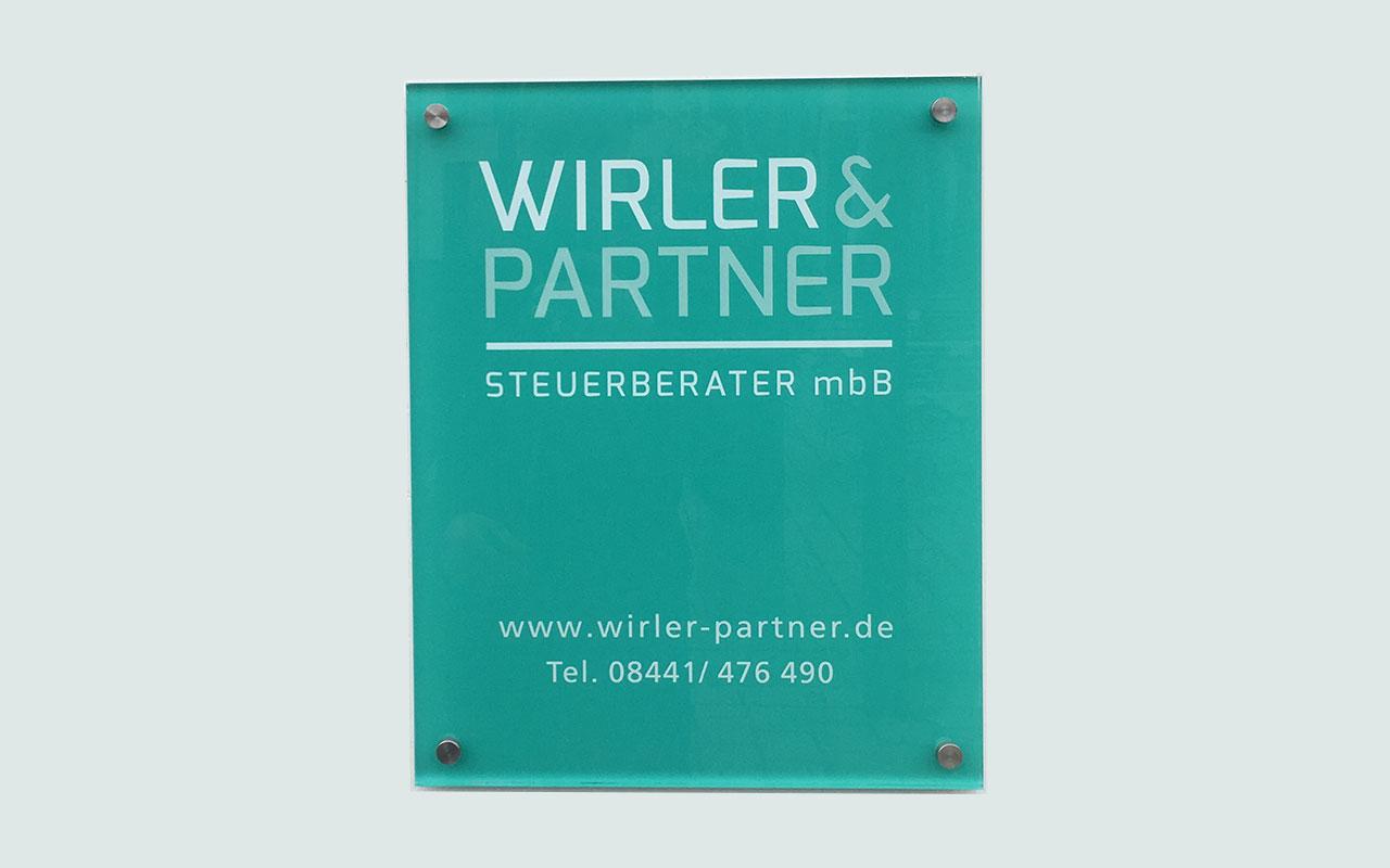 Praxisschild Acrylglas Pfaffenhofen