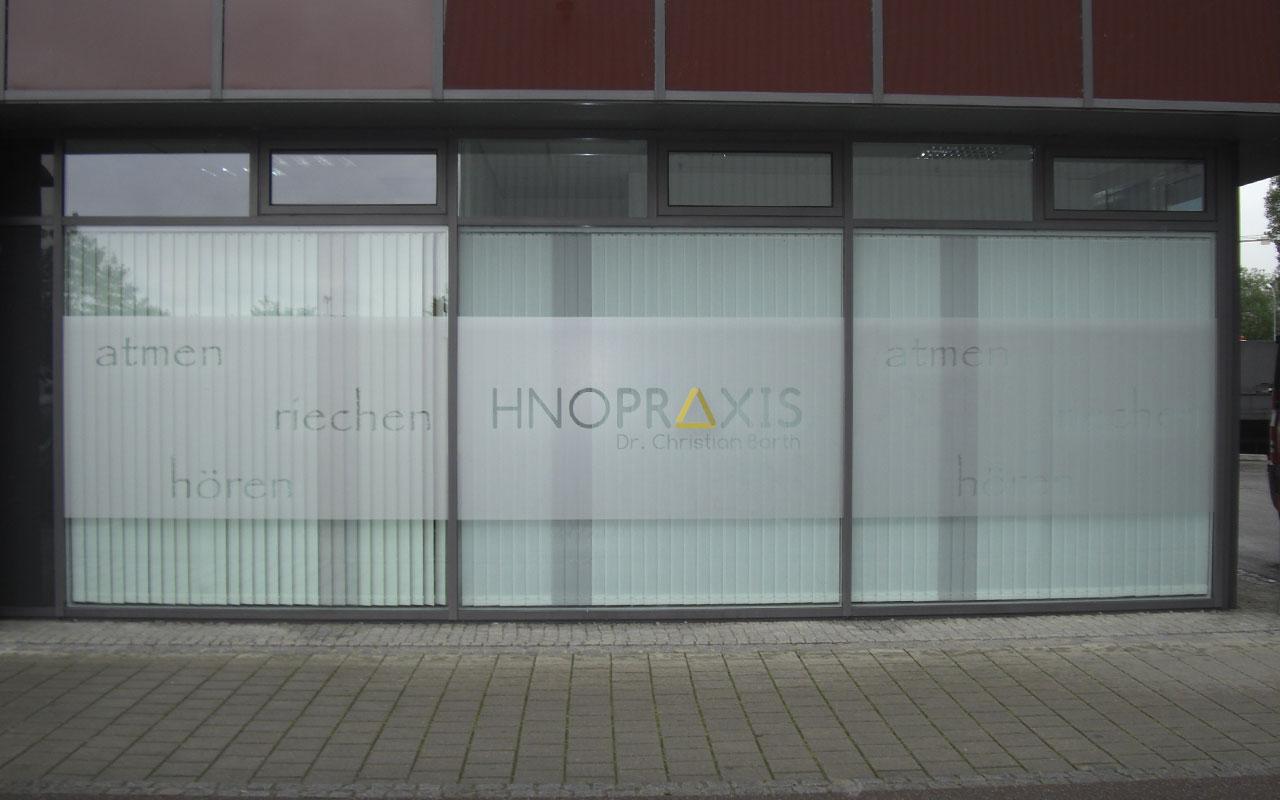 Schaufensterbeschriftung WestPark Ingolstadt