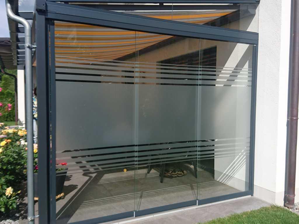 Glasdekor vollflächig als Sichtschutz