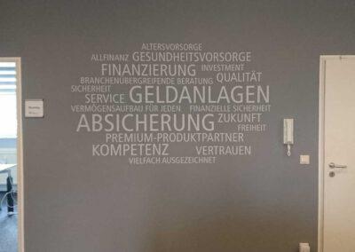 Wandtattoo, Wandbeschriftung